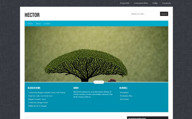 Portfolio Patterns Jquery Free Blogger Theme Template