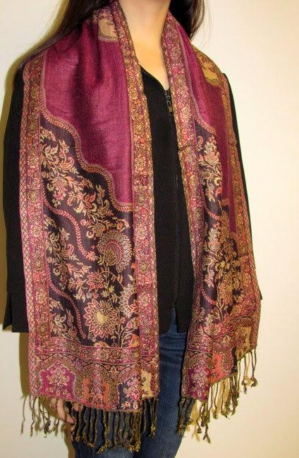 read about modern fashionable dress make a fashion statement with pashmina silk shawls