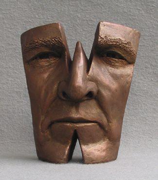 Michael Alfano esculturas de corpos rostos surreais bronze cobre w