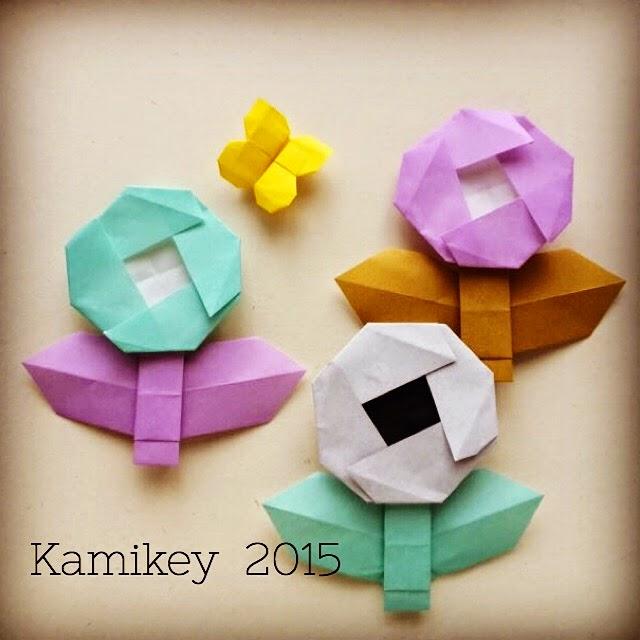 ハート 折り紙:折り紙 アクセサリー 折り方-origamilabo.blogspot.com