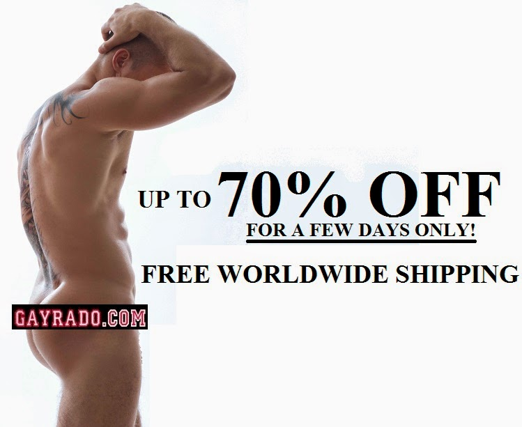 Gayrado Mens underwear swimwear sex toys gay dvds clothing New Year Sale
