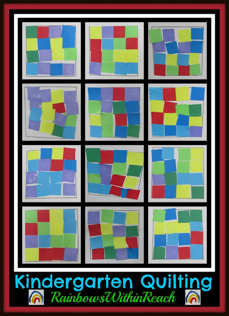 photo of: Kindergarten Geometric Quilting: via RainbowsWithinReach Quilt RoundUP