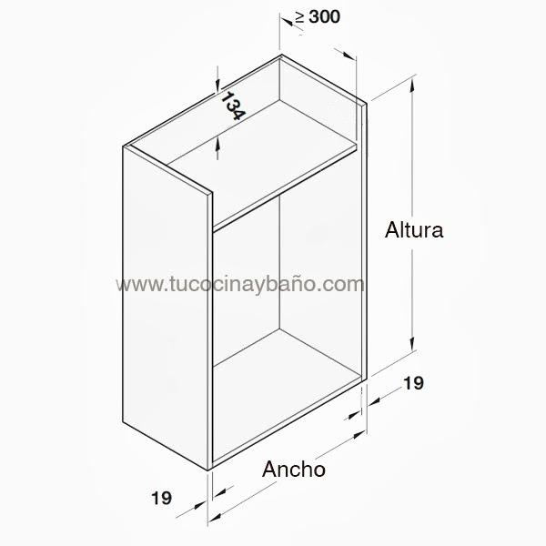 persiana aluminio mueble cocina | tu Cocina y Baño