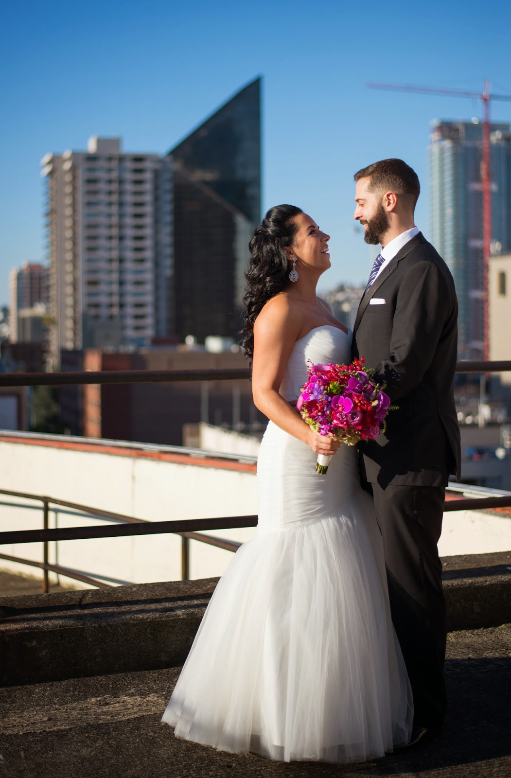 First look - Seattle wedding photography