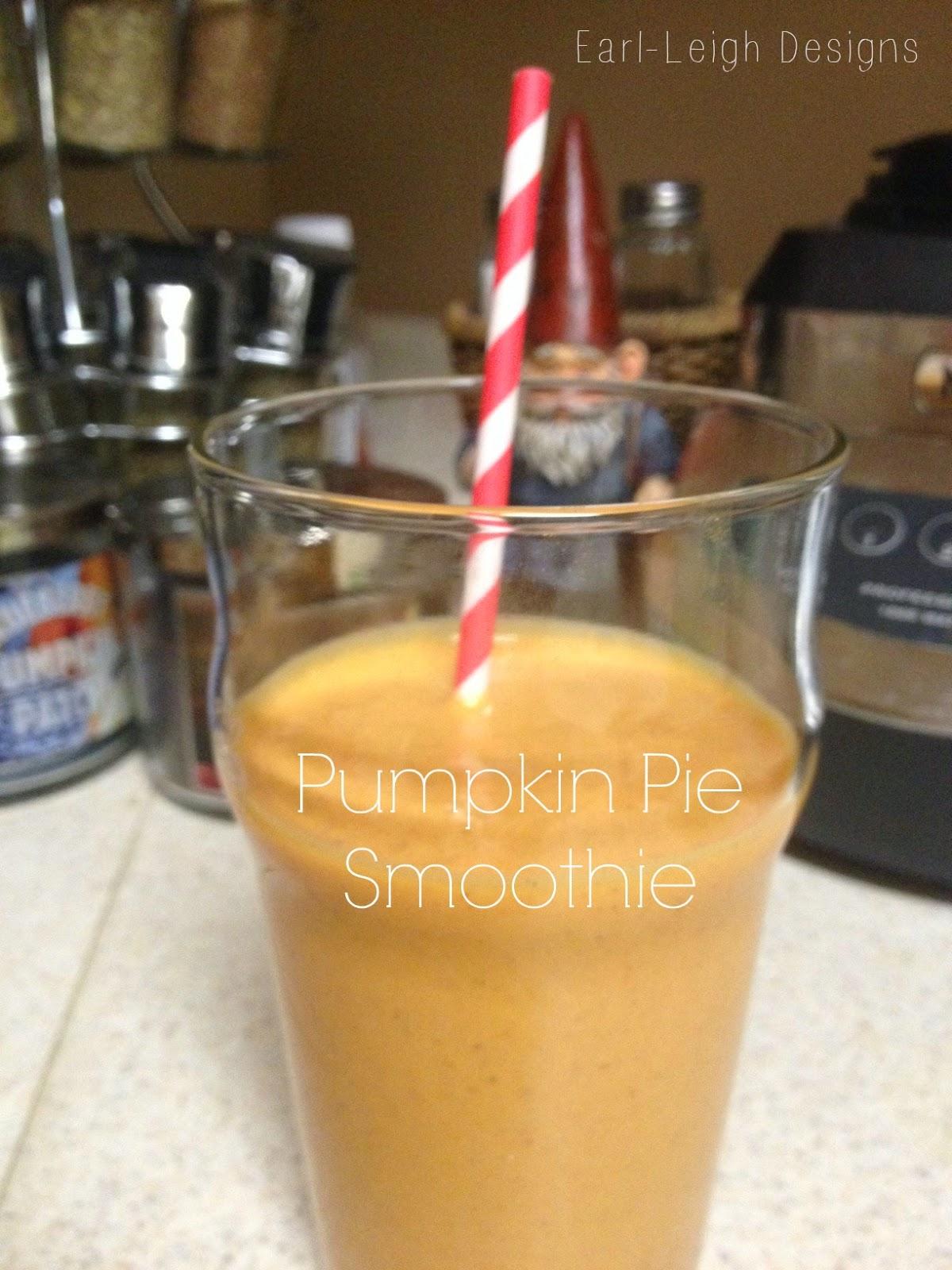 Pumpkin Pie Smoothie via Earl-Leigh Designs