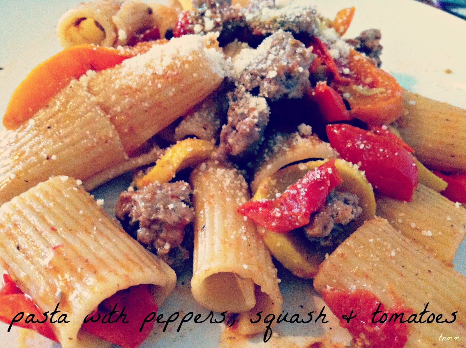 Pasta With Peppers, Squash, and Tomatoes | Tasty Tuesday #Recipe Swap ...