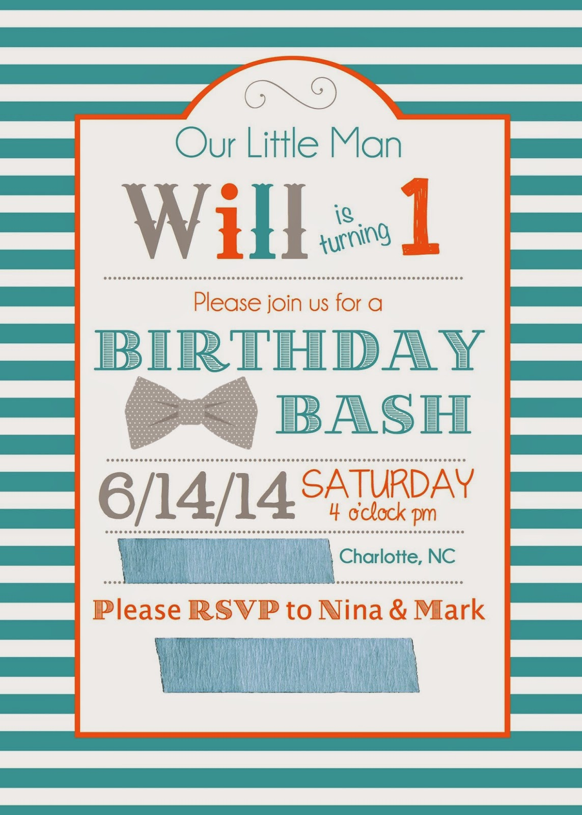 peace. love. & good food.: Will\'s First Birthday Bash!