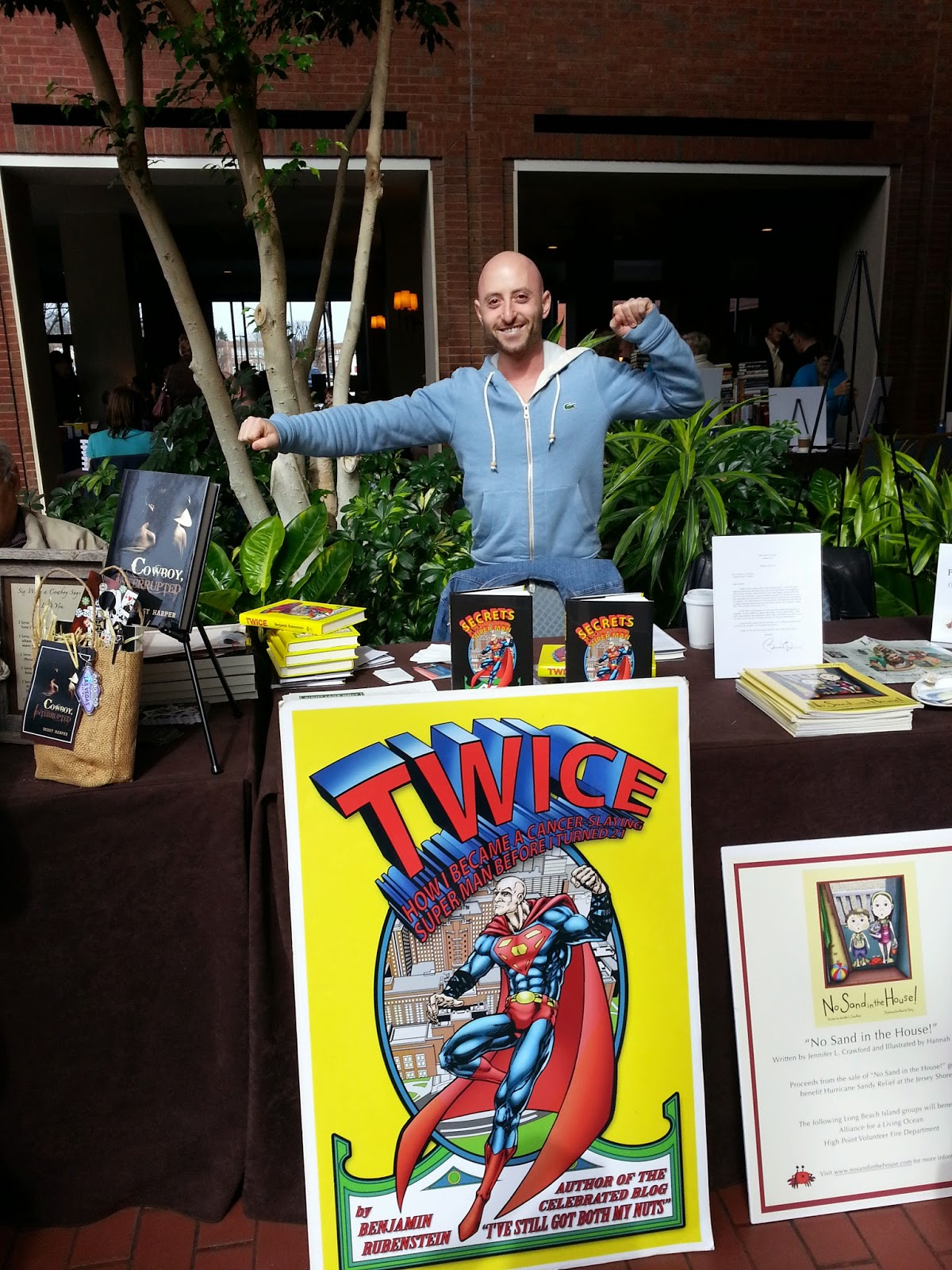 Author Benjamin Rubenstein with his book display at the 2014 Virginia Festival of the Book