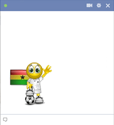 Ghana football smiley