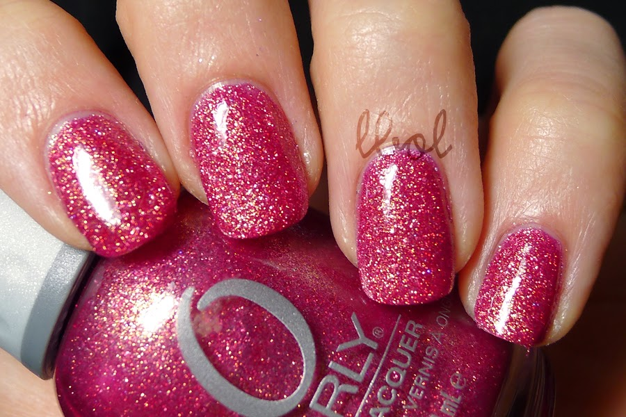 Orly Pink Crystal with Topcoat Swatch