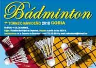 """VII TORNEO DE BÁDMINTON """"NAVIDAD 2018"""""""