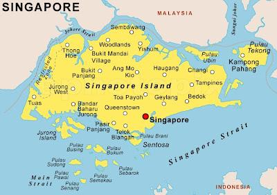 Mapa de Singapur Mapa Región