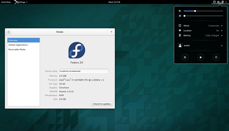 GNOME 3.12 Fedora 20