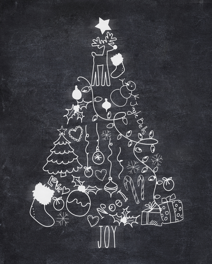 This free Christmas Tree Chalk Printable is a fun addition to your ...