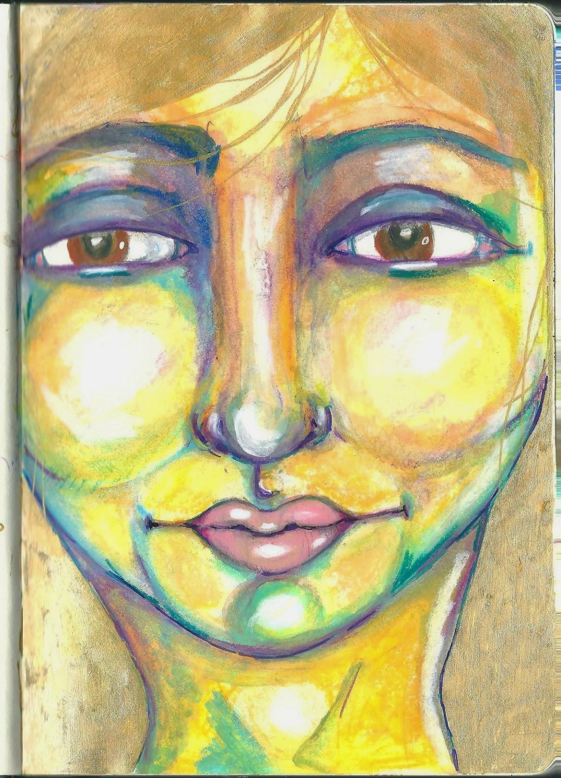 Whoopidooings: Carmen Wing - In my sketchbook. Neocolour ii, Posca pen, Uniball