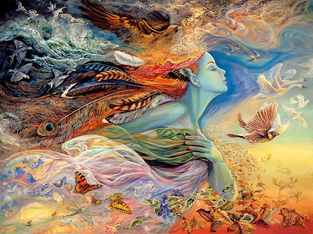 josephine wall fantasy painting kiss