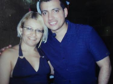 Neide e o Rodrigo Cintra