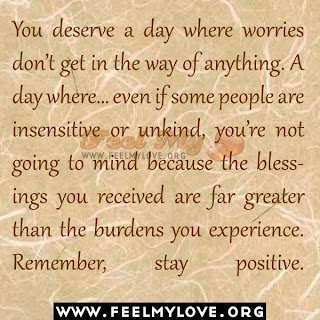 You deserve a day where worries don't get in