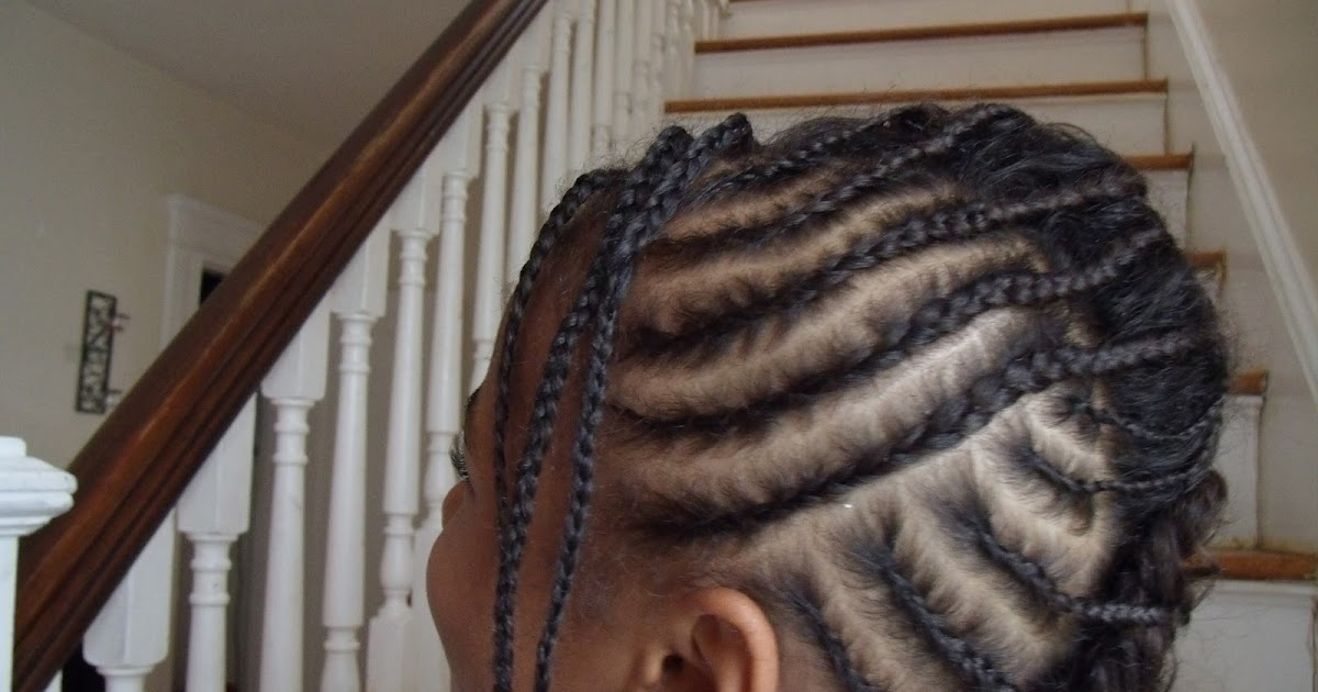 Lil Girl Hair Braiding Styles: Different Kinds Of Curls: Braided Fauxhawk On Natural Hair