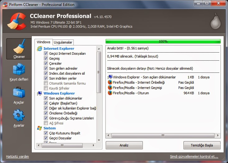 CCleaner Proffessional 4104570 Full İndir