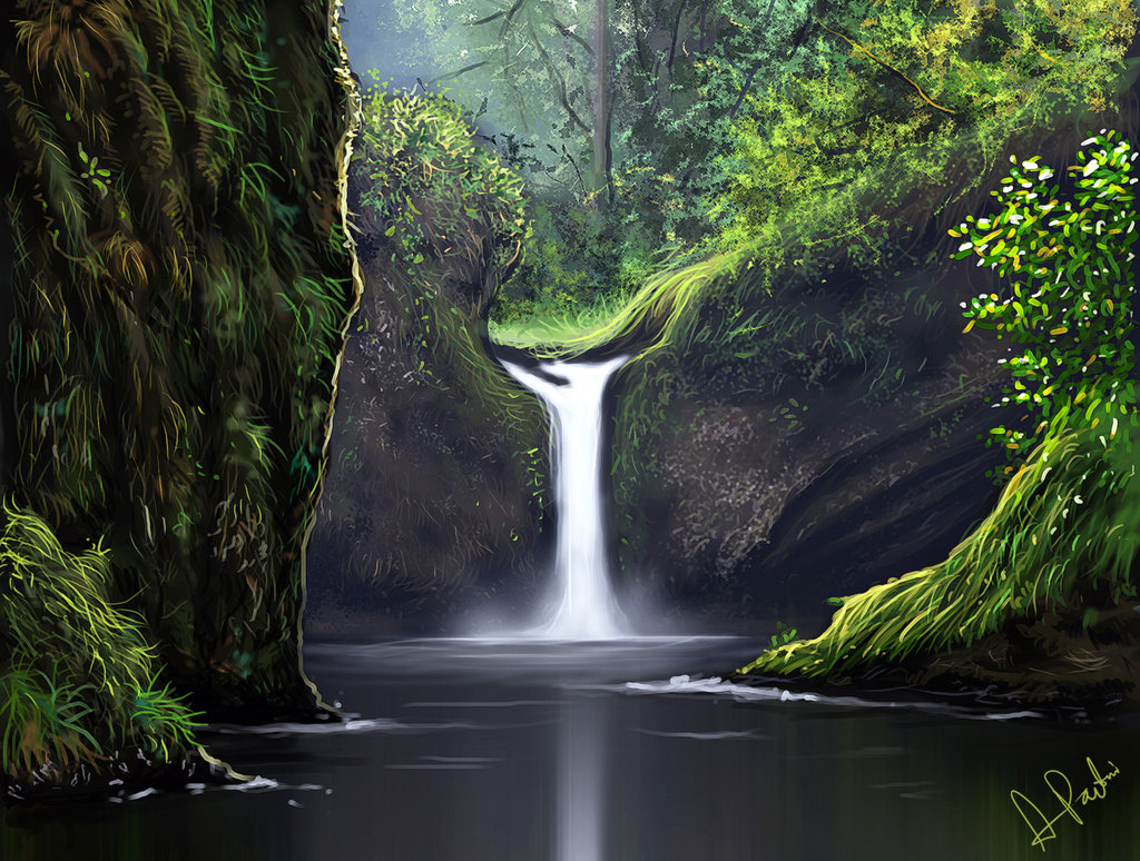 Dalla Blog Waterfalls Digital Art
