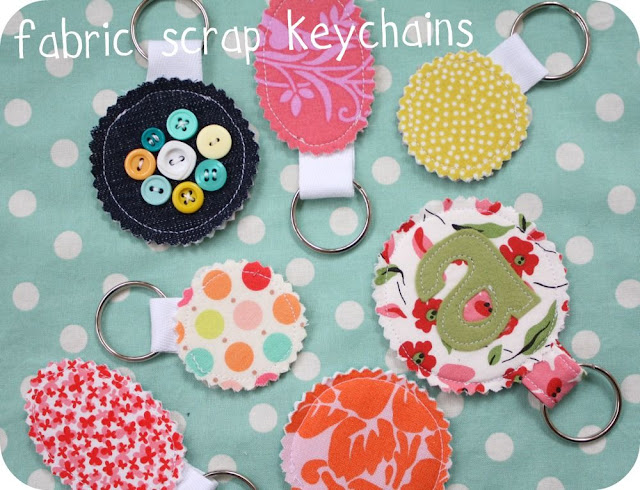 Fabric Scrap Keychain - Craftiness is Not Optional