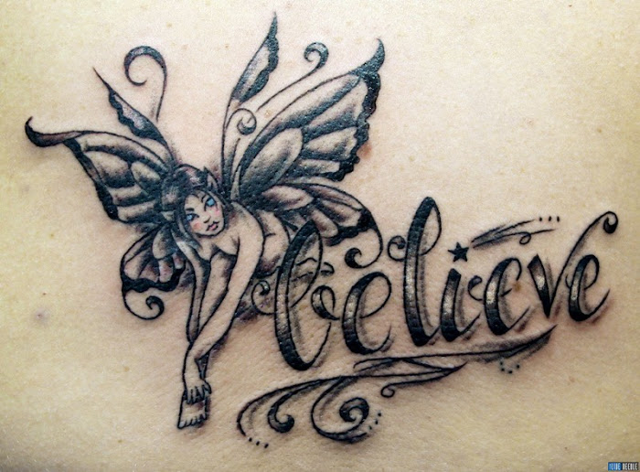 pretty girl tattoos butterfly fairy tattoo designs and tattoo art. Black Bedroom Furniture Sets. Home Design Ideas