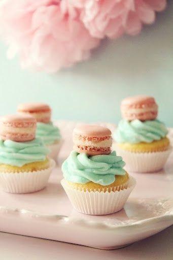 pinteresting macaron cupcake toppers