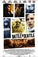 Cartell Batalla a Seattle. Vuitena Nit Jove de Cinema Solidari. Girona.