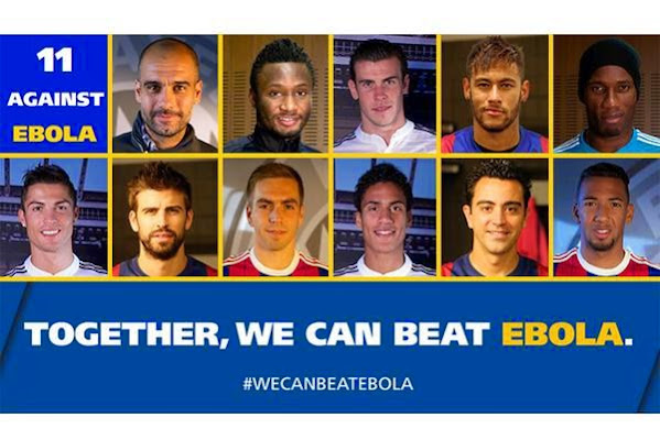 11 Against Ebola: CR7, Neymar, Mikel Obi, Drogba others star in new campaign (Photos &Videos)