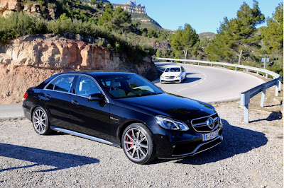 2014 mercedes benz e400 and e63 amg first drive barcelona