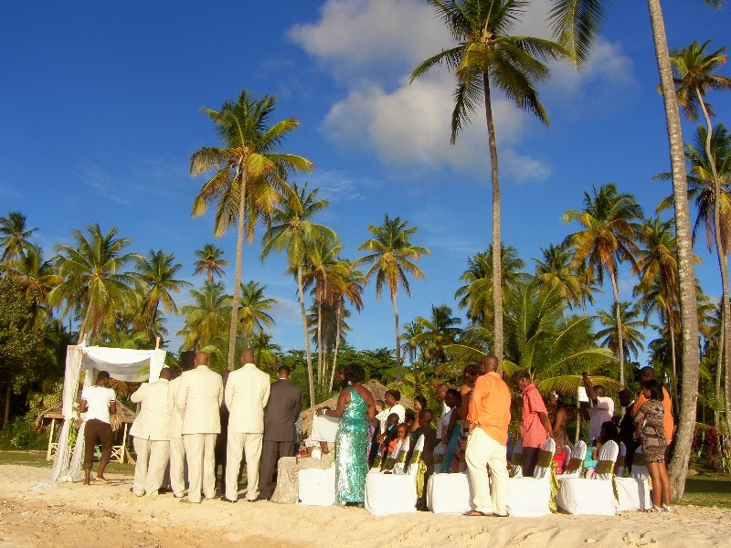 Pigeon point Heritage park beach wedding Tobago