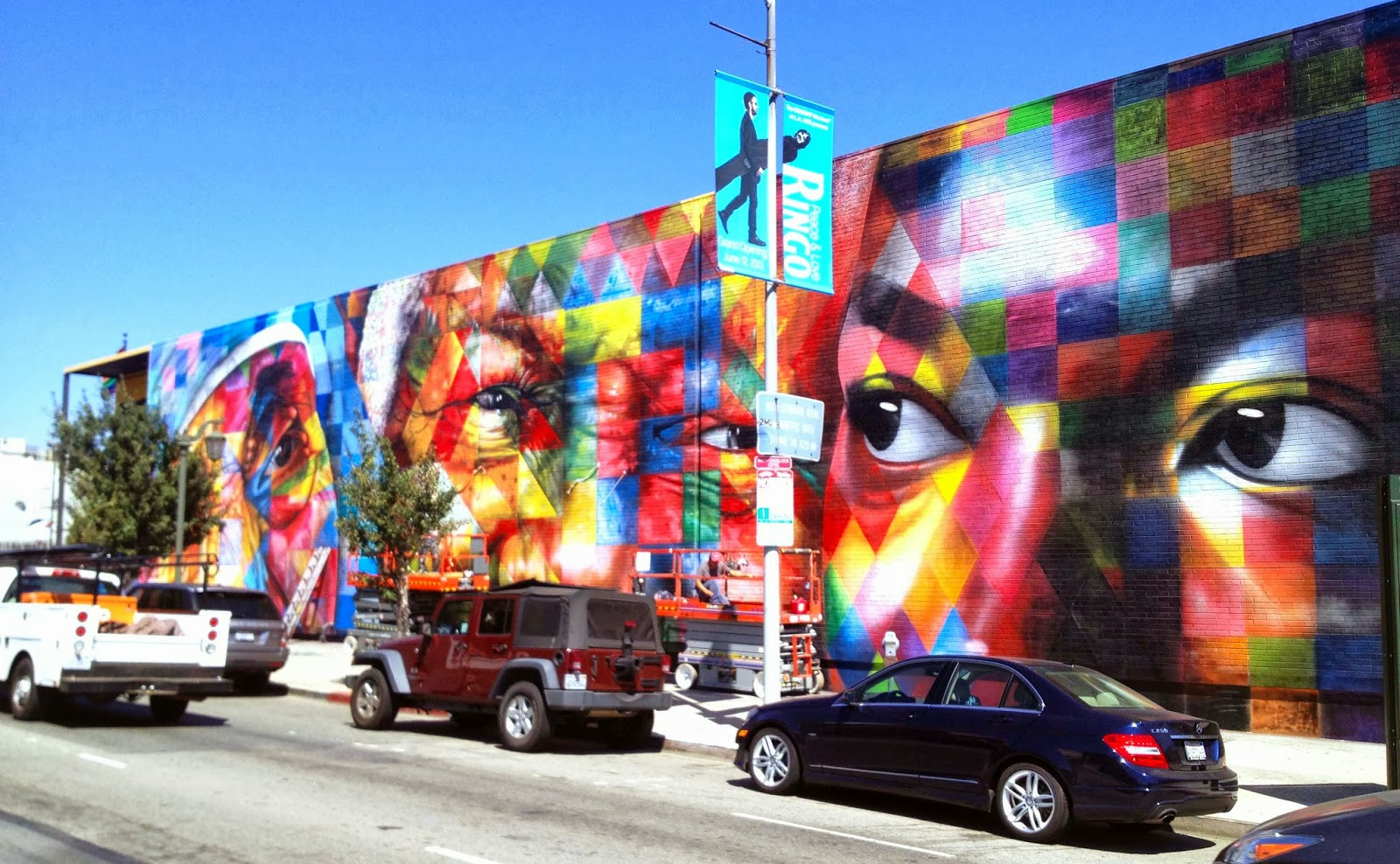 Kobra new mural on n highland ave in los angeles usa for California mural