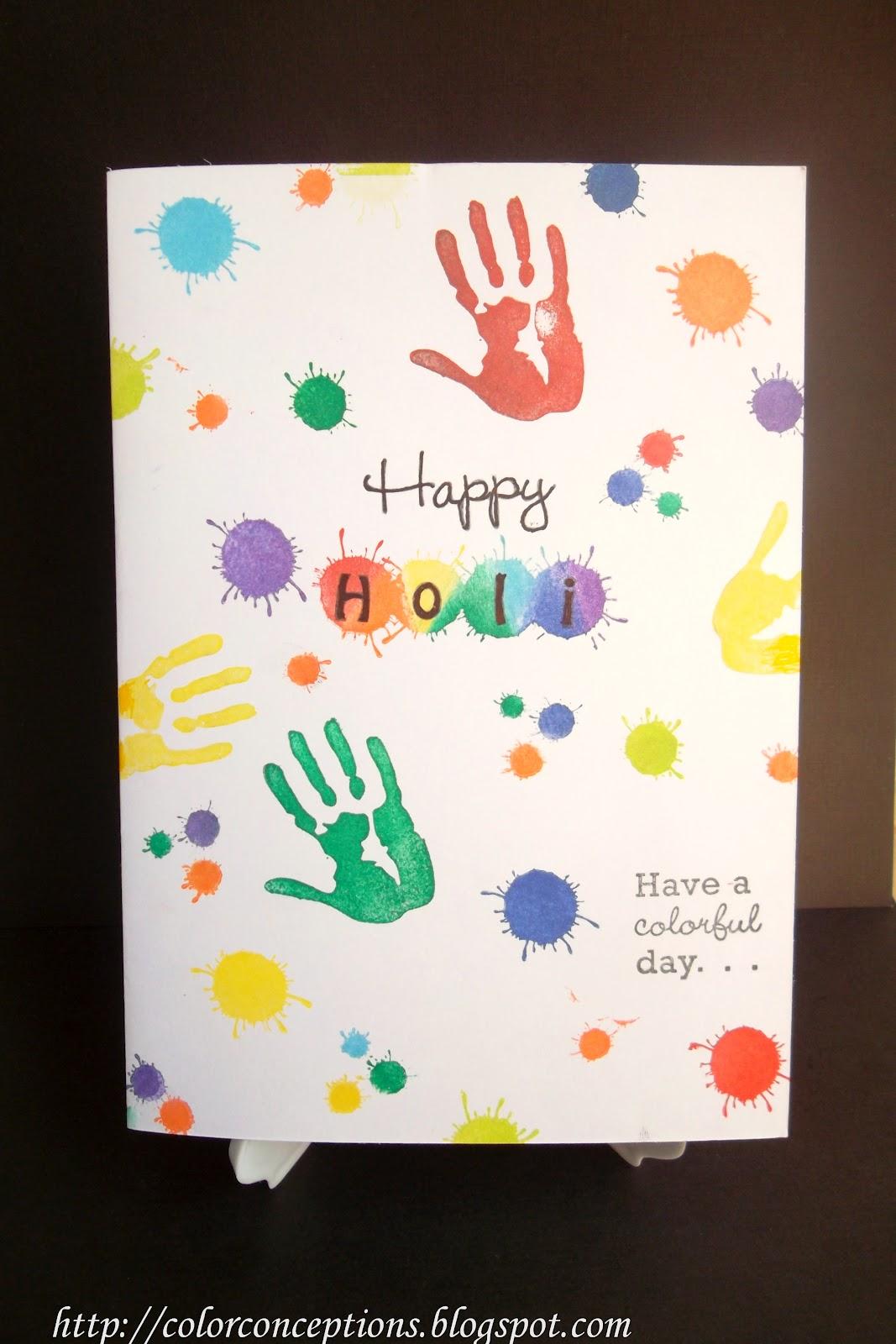 Superior Holi Card Making Ideas Part - 7: Holi Dhamaka