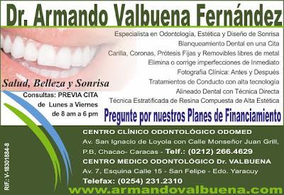 DR. ARMANDO VALBUENA FERNANDEZ en Paginas Amarillas tu guia Comercial