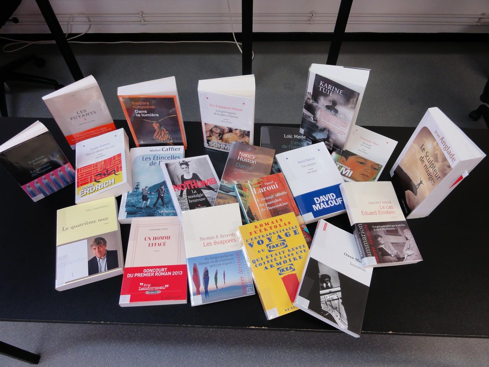 Catalogue de la rentrée littéraire 2013