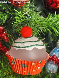 pallina natalizia cupcake