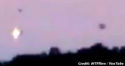 UFOs Captured on Video Over Southern France?