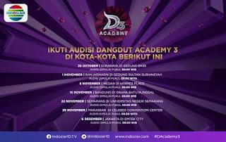 Inilah Jadwal Audisi Dangdut Academy 3 Indosiar