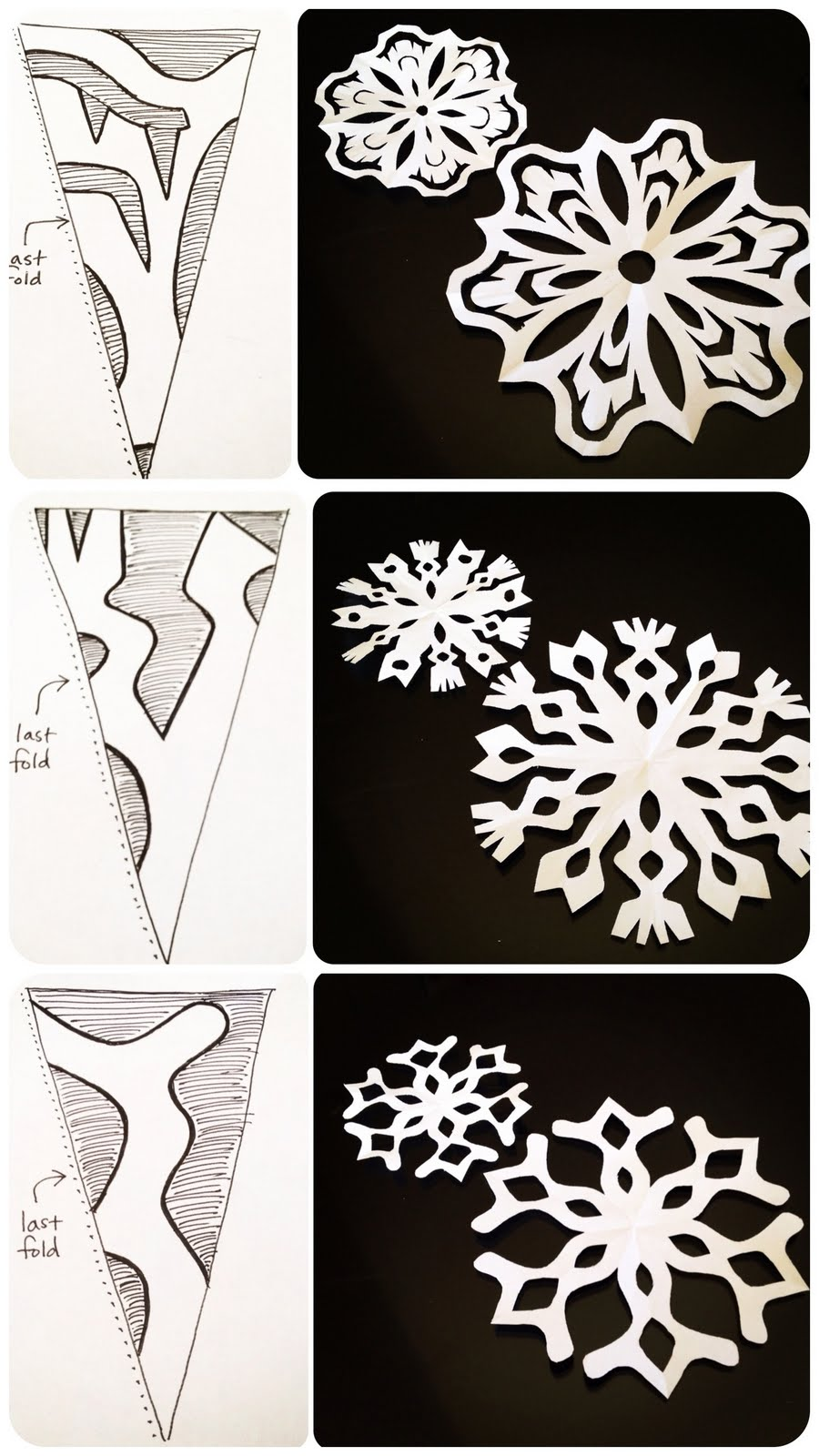pics for simple snowflakes pattern to cut