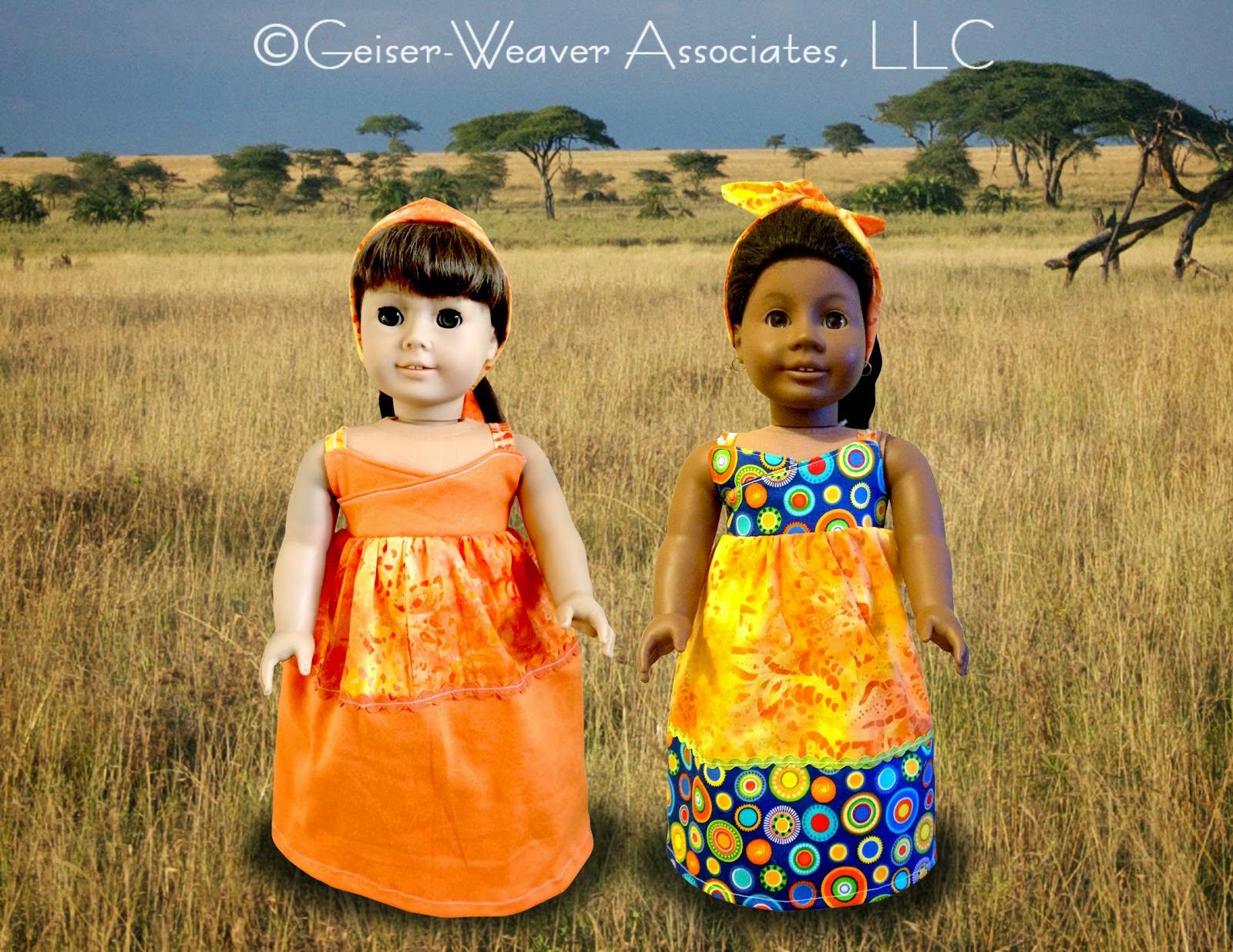 Imagine No Malaria campaign doll clothes by Geiser-Weaver Associates, LLC