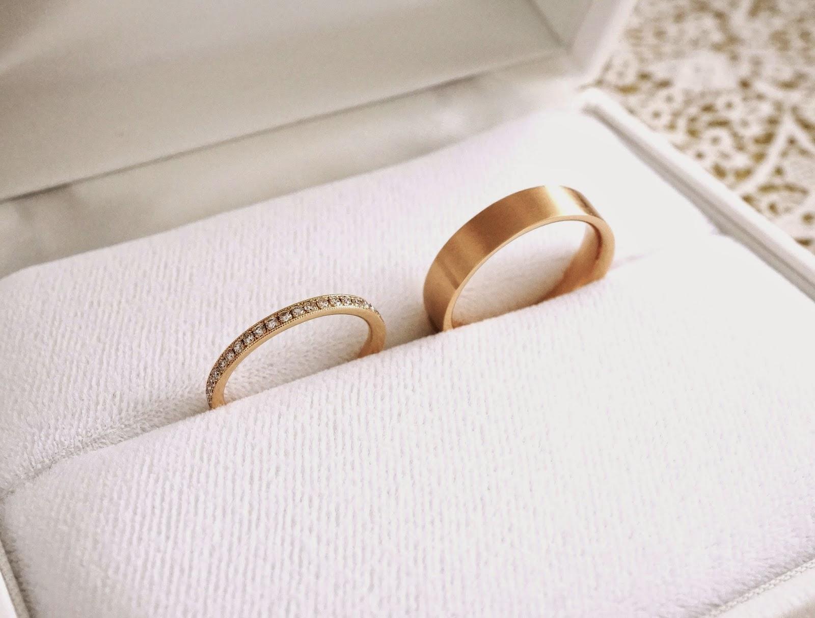 マリッジリング(結婚指輪)は銀座一丁目オーダージュエリーサロンでセミオーダーしました。