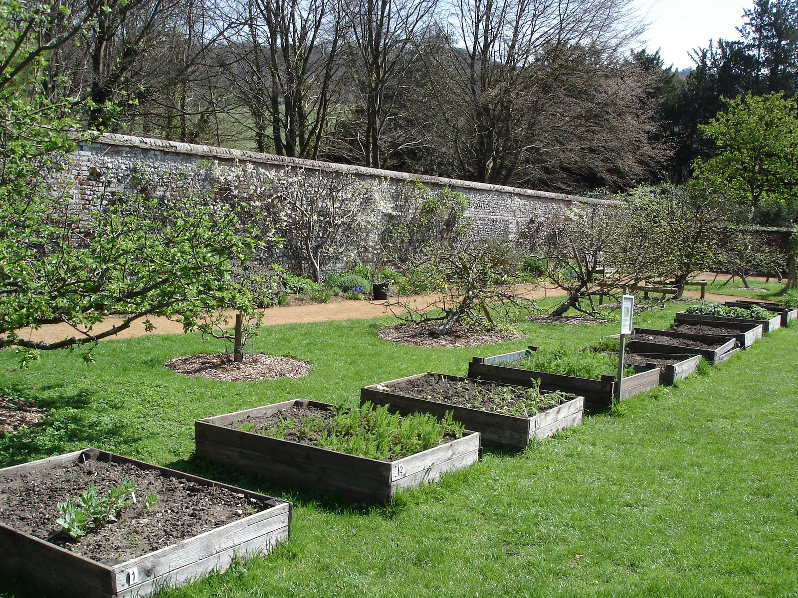 Walled Kitchen Gardens Down On The Allotment Hughenden Manor