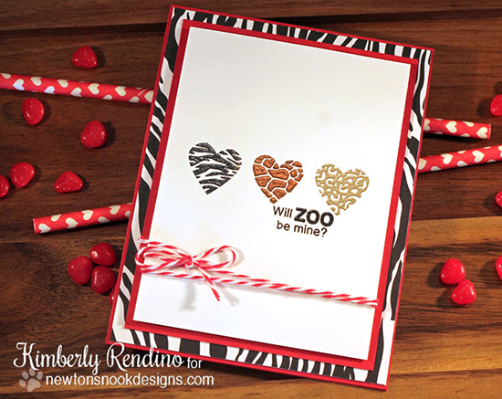 Will Zoo Be Mine Card by Kimberly Rendino | Wild About Zoo Stamp set by Newton's Nook Designs