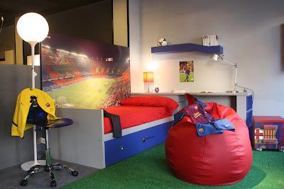 Muebles dise o castell n dise a tu dormitorio con los colores de tu equipo favorito - Disena tu dormitorio ...
