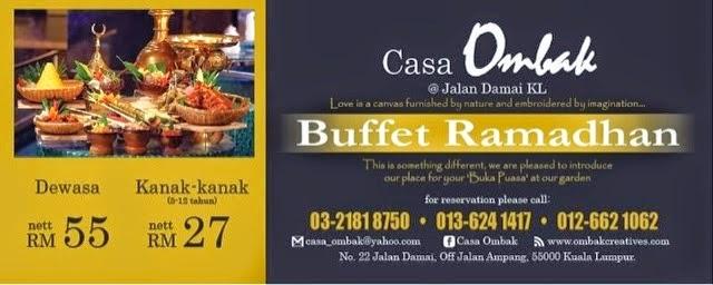 Buffet, Ramadhan, Casa, Ombak, creative, buka, puasa, ala taman
