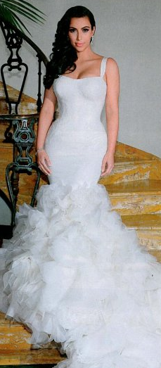 Kim Kardashian Mermaid Wedding Gown : Fab or blah kim kardashian full wedding dress images because i am