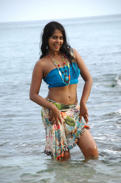 bindu madhavi in spicy beach song cute stills