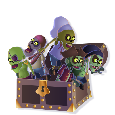 2D Game Assets - Zombie Pirates