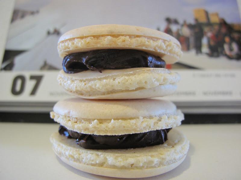 gourmandises homecooked dessert macarons ganache chocolat noir caf. Black Bedroom Furniture Sets. Home Design Ideas